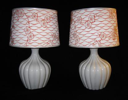 pair large art lamps